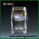 3d crystal love for mother