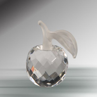faceted crystal apple