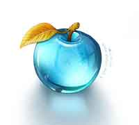 light blue crystal apple